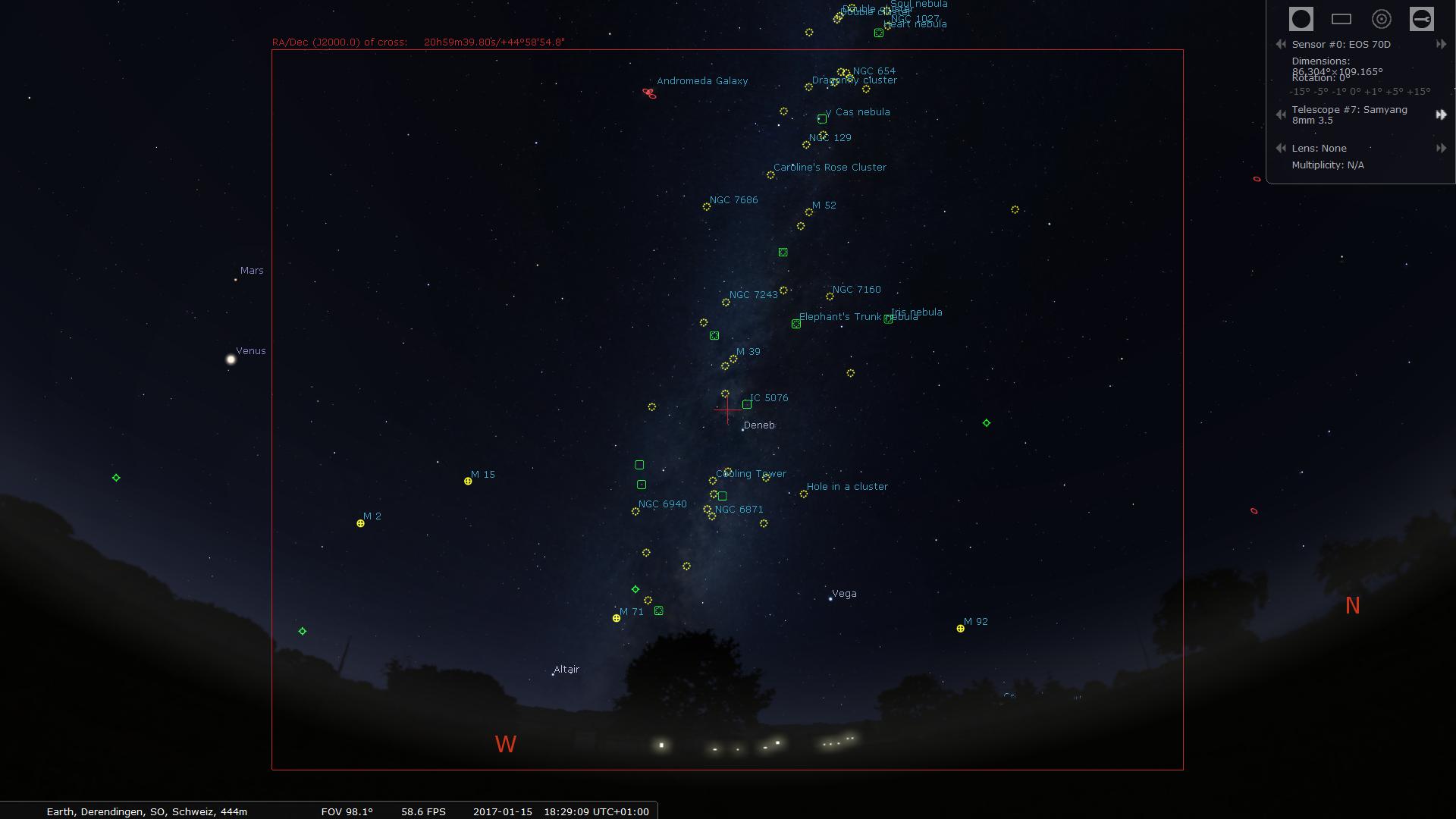 Stellarium App – star-watcher ch